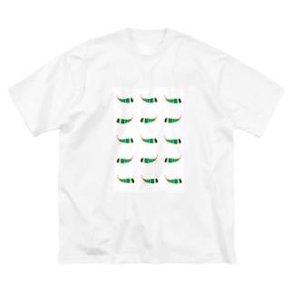 テングビワハゴロモちゃんたくさん携帯カバー Big silhouette T-shirts