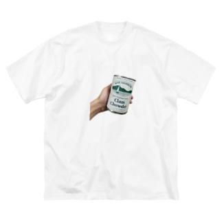 CLAM CHOWDER Big silhouette T-shirts