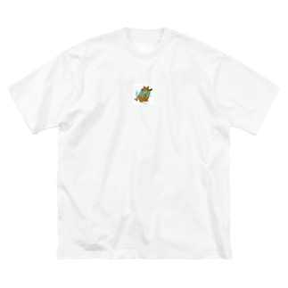KAME-ニホンイシガメver.- Big silhouette T-shirts