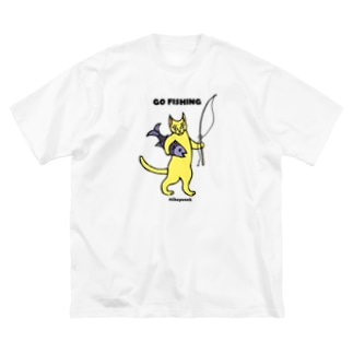 GO FISHING カラー Big silhouette T-shirts