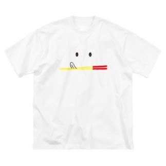ペロちゃんうめーしOKINAWA Big silhouette T-shirts