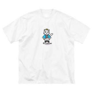 ねこの王子様*ブルー Big silhouette T-shirts