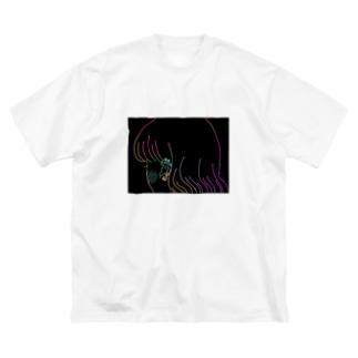 輝き デザイン3 Big silhouette T-shirts