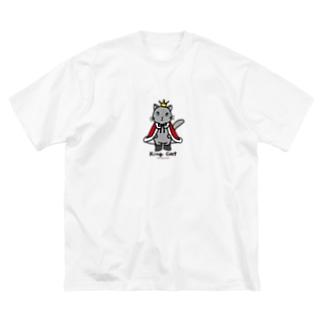 ねこの王様*赤 Big silhouette T-shirts