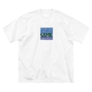 ARAKAWA Big silhouette T-shirts