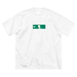 非常口(猫) Big silhouette T-shirts