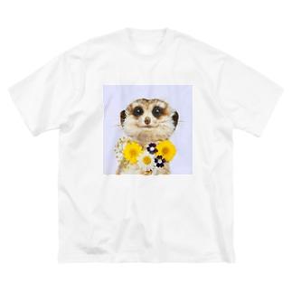 ミーアキャット Big silhouette T-shirts