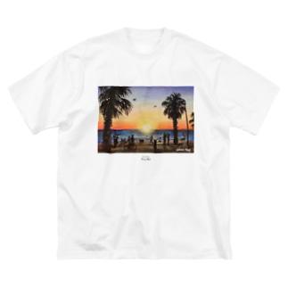 St.Kilda Beach Big silhouette T-shirts