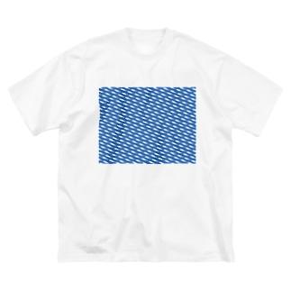 昇りワカサギ Big silhouette T-shirts