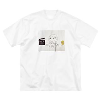 はらぺこシネマくん Big silhouette T-shirts