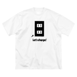 Let's charge! Big silhouette T-shirts