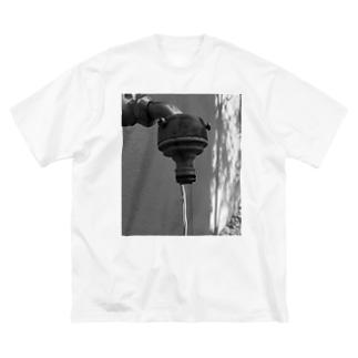 真水 Big silhouette T-shirts