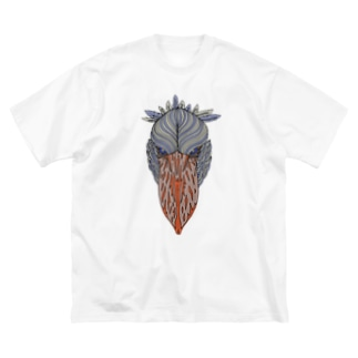ハシビロコウ Big silhouette T-shirts