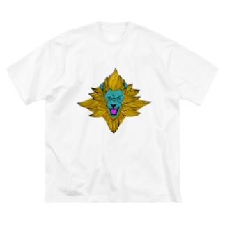 ライオン Big silhouette T-shirts