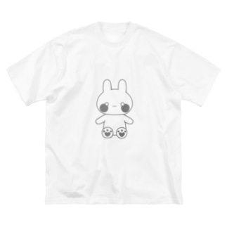 グレーなうさぎ Big silhouette T-shirts