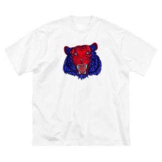 トラ Big silhouette T-shirts