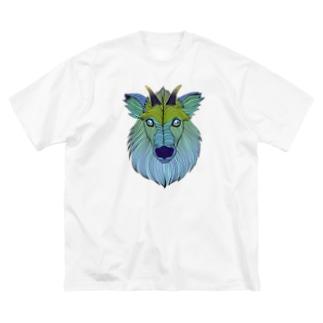 ニホンカモシカ Big silhouette T-shirts