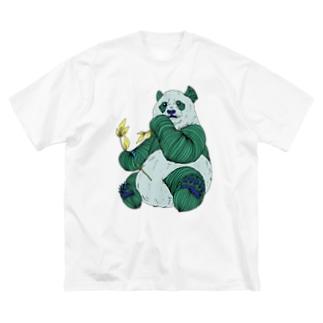FIELD EDGE.のパンダ Big silhouette T-shirts
