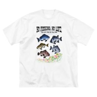 FISHING_S4C Big silhouette T-shirts