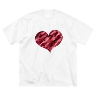 アートハート Big silhouette T-shirts