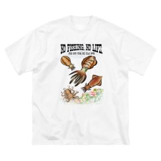 猫と釣り人のFISHING_S8C Big T-shirts