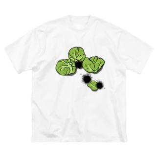 うにうにキャベツ Big silhouette T-shirts