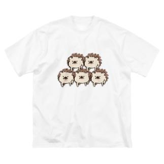 ハリネズミのれもさん【ピラミッド】 Big silhouette T-shirts