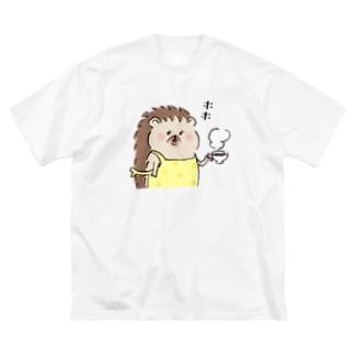 ハリネズミママ Big silhouette T-shirts
