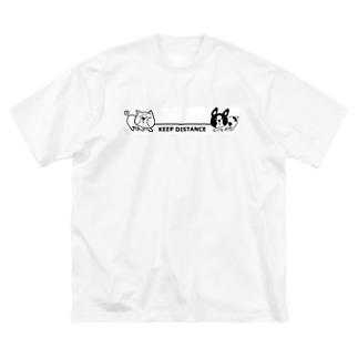 綱引き犬 Big silhouette T-shirts