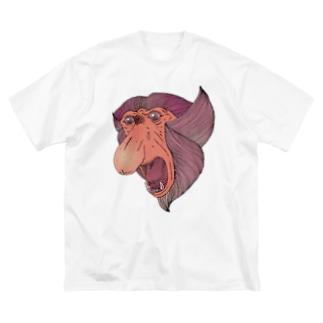 FIELD EDGE.のテングザル Big silhouette T-shirts