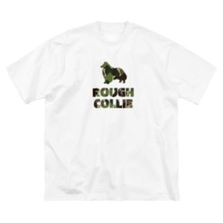 ラフコリー 迷彩柄 Big silhouette T-shirts