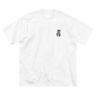 不満げなこみ Big silhouette T-shirts