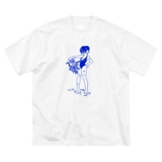 naminaのスク水すけべたこ Big silhouette T-shirts