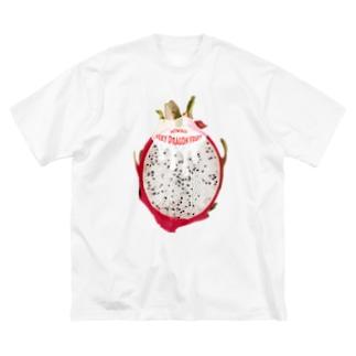 Hiwaii/魅惑のドラゴンフルーツ Big silhouette T-shirts