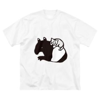 おやすみ同盟 Big silhouette T-shirts