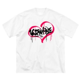 バレンタインデー Big silhouette T-shirts