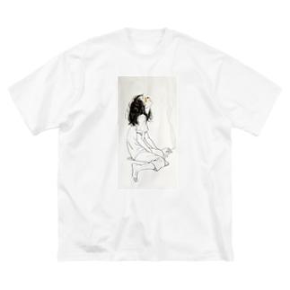 (泣) Big silhouette T-shirts