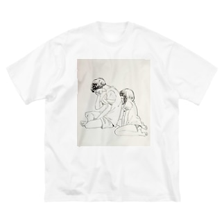 カップル Big silhouette T-shirts
