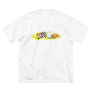 まっすーファミリー Big silhouette T-shirts