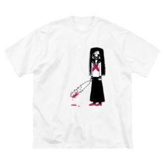 くぎバット Big silhouette T-shirts