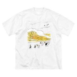 無限ビール Big silhouette T-shirts