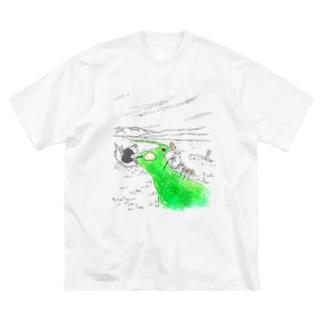 無限クリームソーダ Big silhouette T-shirts