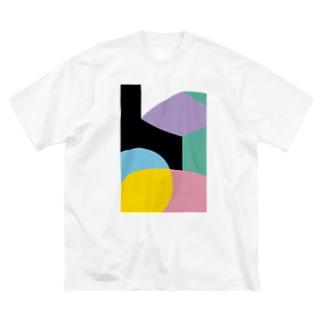 BIG ゴロT/a_005(トリミングシリーズ) Big silhouette T-shirts