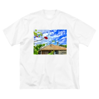 竹富島の心 Big silhouette T-shirts
