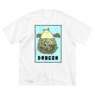 おさなドラゴン Big silhouette T-shirts