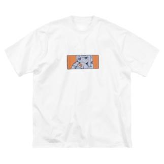 えびせん🍤のささくれにバンソウコウ.1 Big silhouette T-shirts
