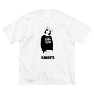 ハムったガール Big silhouette T-shirts