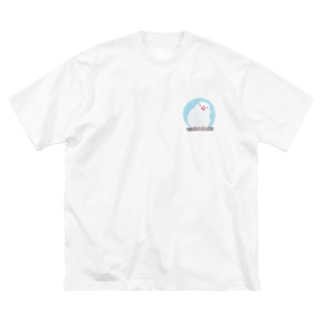 白文鳥 Big silhouette T-shirts