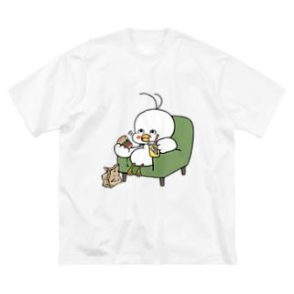 ふ鳥 Big silhouette T-shirts