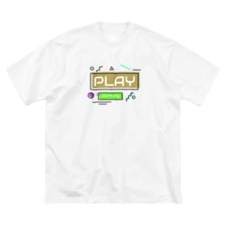 RETRO LOGO B Big silhouette T-shirts